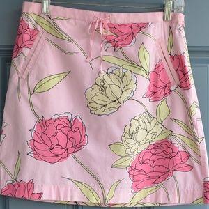Pink Floral Print A-Line Skirt by Loft Sz. 8